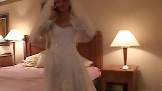 Hot Latina bride ball licking on her wedding night before getting boned  68754